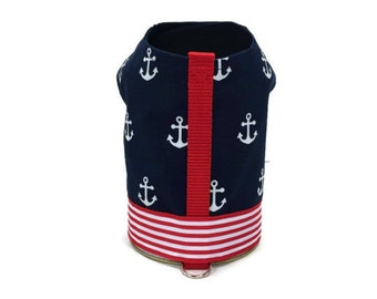 Nautical Dog Harness-Navy Dog Harness-Dog Vest-Dog Harnesses-Dog Clothes-Clothes for Dogs-Harnesses for Dogs-Dog Coat-Dog Jacket