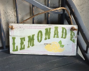 Wooden Lemonade Sign