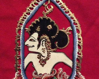 King Yudistera - Gorgeous Authentic Shadow Ornaments - Wayang Kulit Gantungan