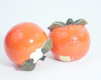 Salt Pepper Holt Howard Shakers Vintage Orange Japan 1960 Set Shaker Vtg