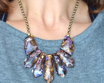 Jasper and Bronzite Necklace and Chain