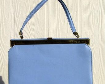 Blue purse.