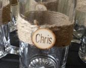 Rustic Beer Glasses, Rustic Wedding, Log Slice Beer Glass, Wedding Beer Glasses, Groomsmen Beer Mugs, Groomsmen Gift, Personalized Beer