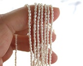 TINY Baroque Rice Fresh Water Seed Pearls, Rice Seed Pearls, Cream Color Pearls, Miniature Pearl Beads  FWP-080