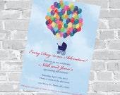 Up Baby Shower Invitation - Custom Invite