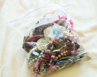 Vintage Costume Jewelry Lot 3 Pounds Bulk Destash Grab Bag