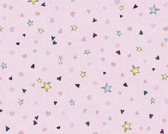 Quilting Treasures - SANTORO'S GORJUSS - Rainbow Dream Plum Tiny Stars & Hearts