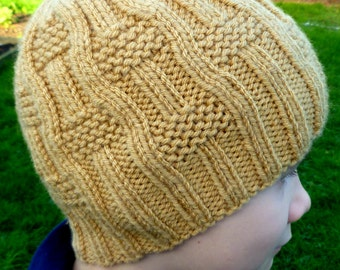 Instant Download Knitting PDF Pattern - I Make My Own Waves Hat