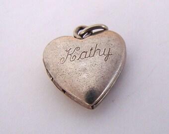 Vintage Engraved Kathy Sterling Locket