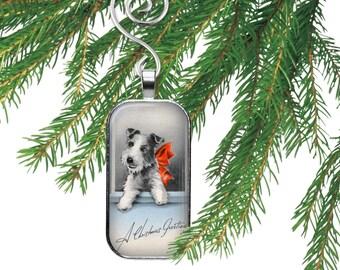 Miniature Schanuzer Christmas Ornament or Necklace