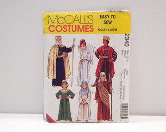 Christmas Pageant Costumes McCalls 2340 / 7281 Child Nativity Play Never Used Size 6 8 10 Biblical Joseph Mary Angel Wisemen Jesus Bible 90s