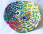 Mini Flying Saucer Dog Toy - Multi Colored Leopard Print