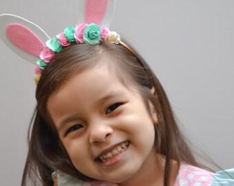 Easter Bunny Headband - First Birthday Headband -  Birthday Headband - Spring Easter Headband - Baby Toddler Girls Hair Accessories Kids