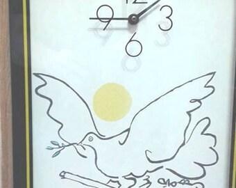 SOLD!! Mid Century PICASSO Clock, Elgin 1978