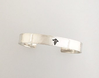 Personalized Sterling SilverCuff Bracelet - Personalized Jewelry - Custom - Cuff - Bangle - Sterling Cuff - Silver Cuff - Secret Message