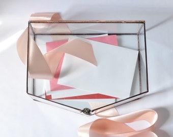 Wedding Envelope Holder, Glass Box, Wedding Gift, Glass Jewelry Box, Wedding Display Box