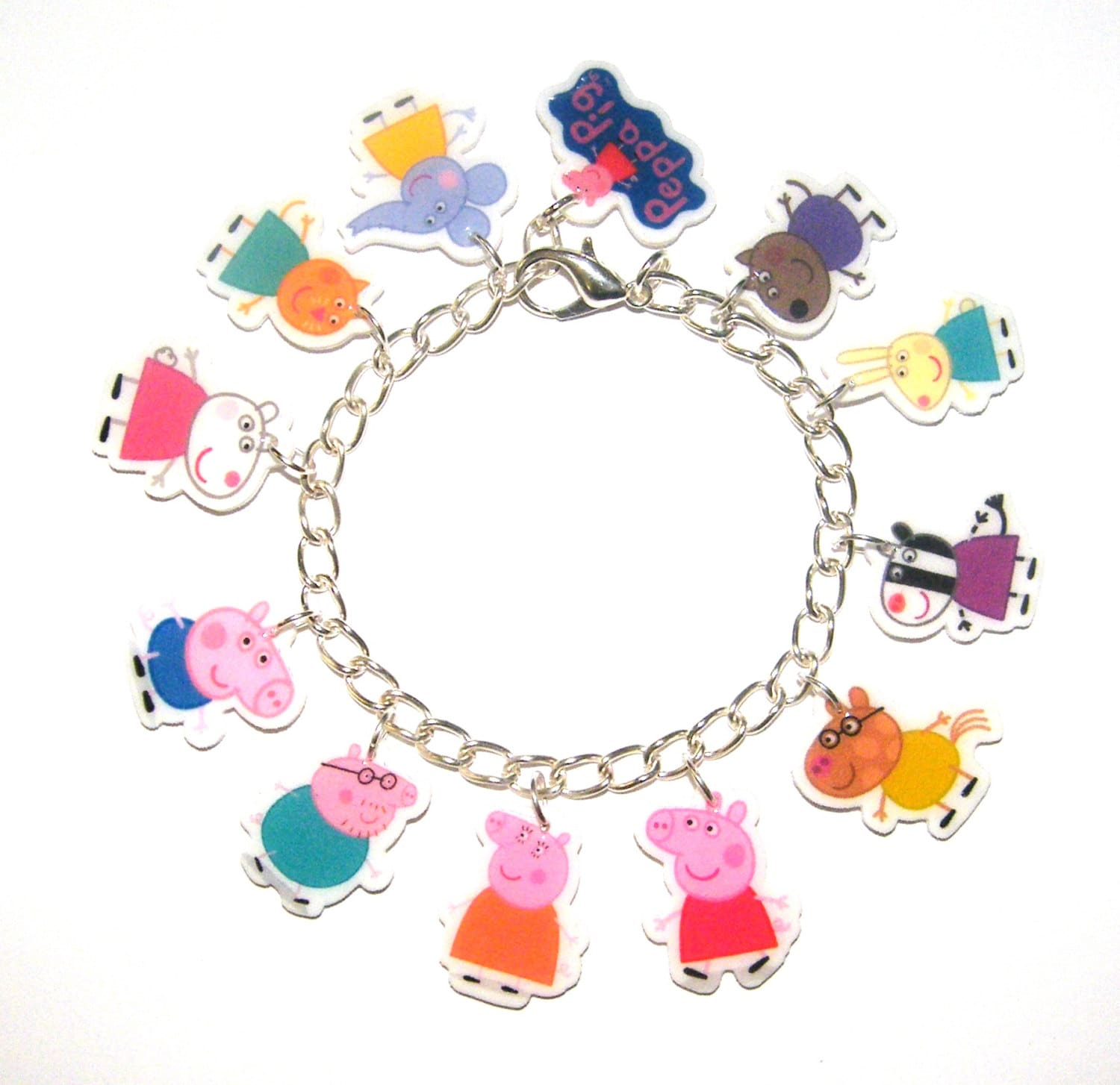 Pig Charm Bracelet: Peppa Pig Charm Bracelet. Peppa Pig Party Peppa Pig Gift