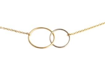 Interlocked Love Gold Necklace
