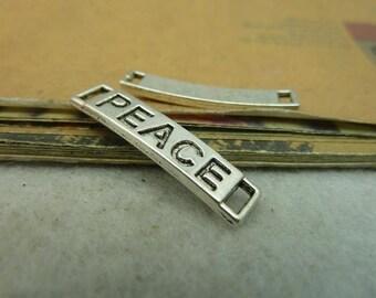 10pcs 28x6mm antique silver peace letter charms pendant C4005