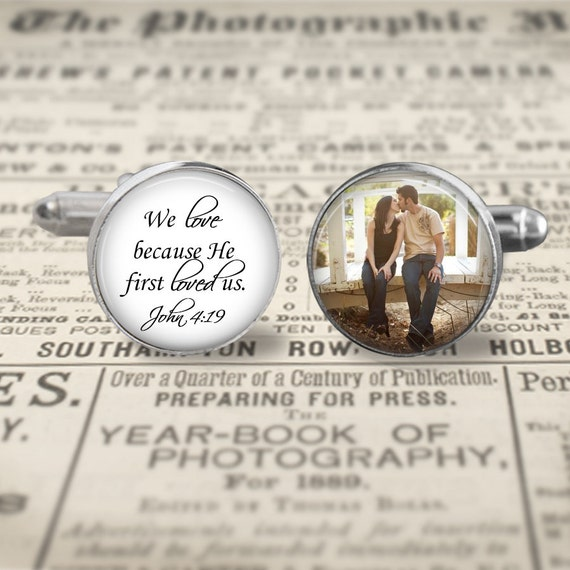 Custom Bible Verse Cufflinks,Custom Photo Accessories, Wedding Cufflinks, Groom Cufflinks