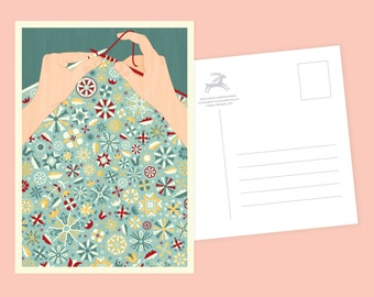 Floral Knit Postcard or Postcard Set - Inspired by Lithuania Series