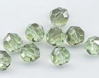 "12 Swarovski crystals with ""satin"" effect - art. 5000 - chrysolite satin - 8 mm"