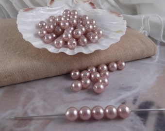 8mm Taupe Faux Loose Pearls ~ 100pieces