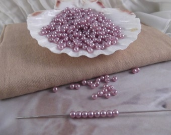 4mm Lilac Faux Loose Pearls ~ 250+ pieces