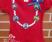 Girls Thomas the train, Girls Thomas Shirt, Train shirt, Red shirt,  Necklace shirt, Made to order 12 month, 18 month,  2t, 3t, 4t, 5t, 6