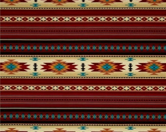 Elizabeth's Studio - Tucson - Southwest Blanket Stripes - Terracotta - Choose Your Cut 1/2 or Full Yard