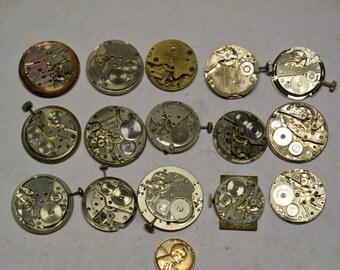15 vintage mens wrist watch movements E-438