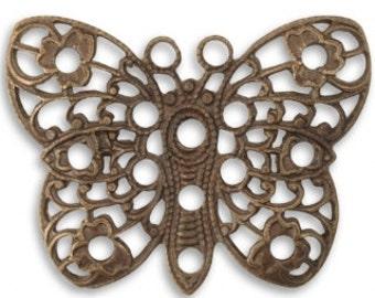 Vintaj 32.5mm Peacock Butterfly