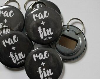 Chalkboard Wedding Favor Bottle Openers OR Buttons (Customizable)