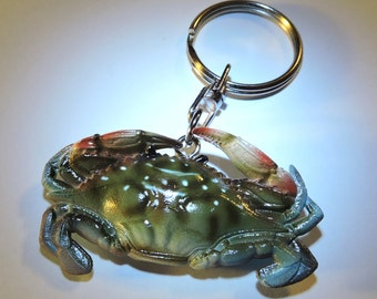 Charming Maryland Blue Crab Keychain 2""