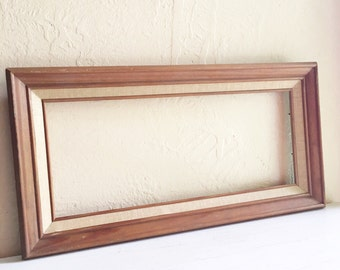 Vintage Wood Picture Frame Ling Large 6x14 Rectangle