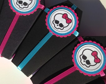 Monster High Party Favor Boxes Coffins