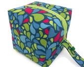 KNITTING PROJECT BAG - Sock Cube, Zippered Box Bag, Best Day Ever, Zippered Project Bag, Knitting Bag, Crochet, Sock Bag, Hat Bag