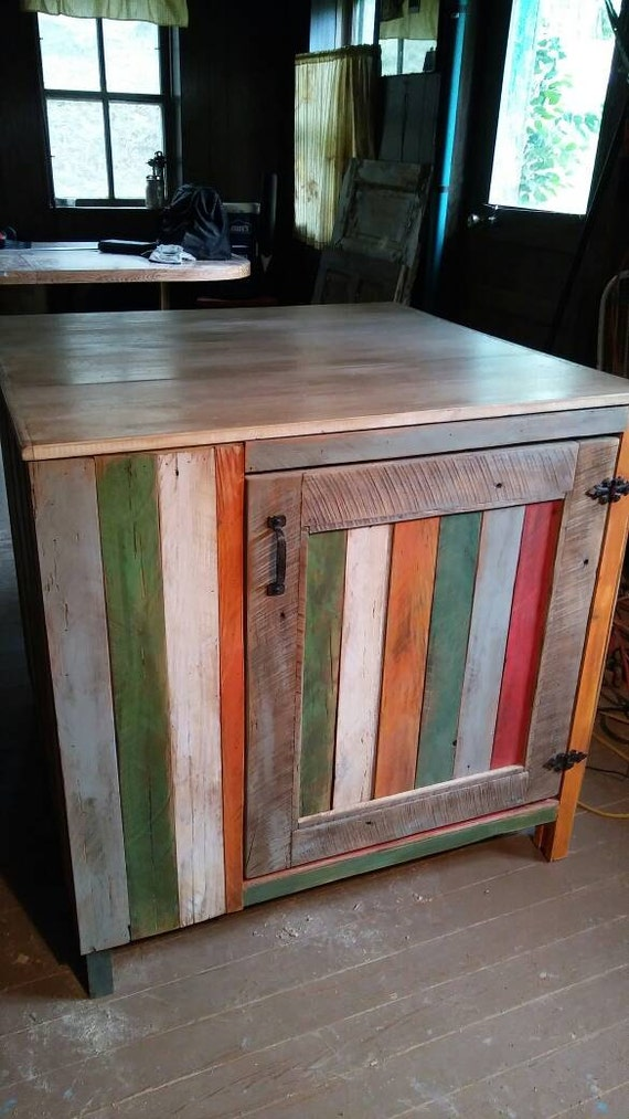 Https Www Etsy Com Listing 461239068 Custom Made Kitchen Island Colorful Hobo