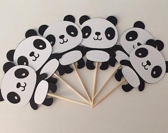 Panda Cupcake Toppers, Panda Party