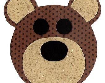 Bear teddy bear iron on fabric applique DIY