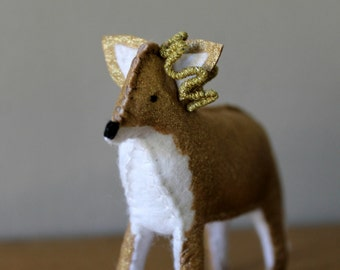 Felt Gold Princess Fox with Hand Crafted Crown