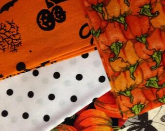 5 Piece Fat Quarter 100% Cotton Print Fabric - #29 - Halloween/Fall