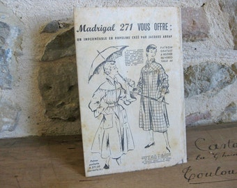 French sewing pattern for a raincoat Madrigal 271 designed by Jacques Aboaf