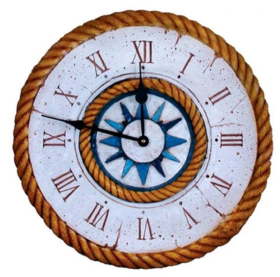 nautical compass rose large wall clock