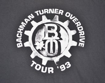 Bachman Turner Overdrive Tour 1993 Shirt T-Shirt Size XL Tee The Guess Who Classic Rock Canada
