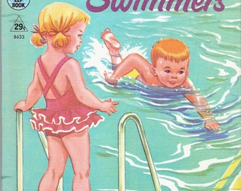 LITTLE SWIMMERS Vintage Rand McNally Tip Top Elf Book Illustrated by Dorothy Grider