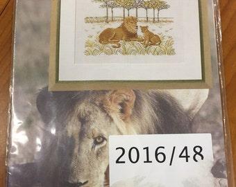 New Cross Stitch KIT- Permin of Copenhagen - Lion Cub  DMC  (70-8345)