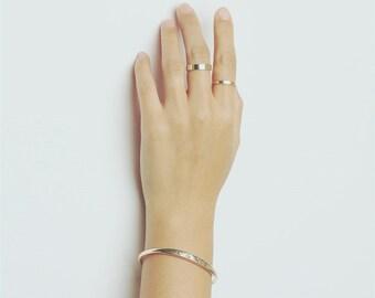 Gold LOVE cuff bracelet - stacking cuff