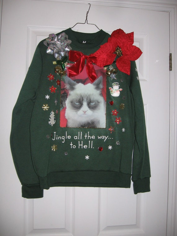 Ugly Christmas Sweater Cat Light Up 112