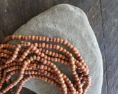 "Bagru Rosewood 4-5mm Beads - 16"" Strand - 108 Beads - Perfect for Lotsa Little Mala Style Love - Yoga Gypsy Jewelry"